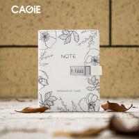 CAGIE/卡杰A5活页密码本带锁日记本创意计划本韩国小清新大学生简约笔记本子可替换内芯活页本子定制logo