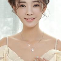 项链女简约韩国锁骨链生日礼物送女友镶施华洛世奇人工锆