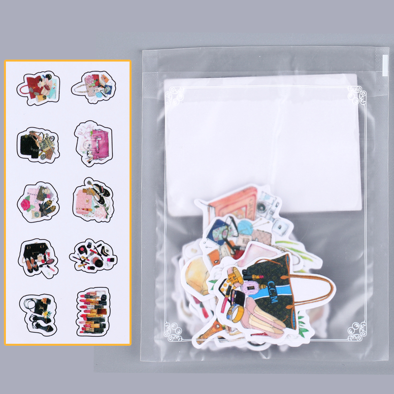 umi卡通创意可爱小清新手帐手账装饰贴画diy表情和风贴纸包