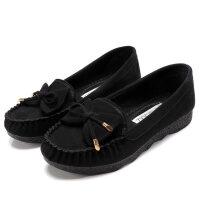 老北京布鞋女单鞋春秋平底女鞋休闲工作鞋孕妇妈妈鞋软底豆豆鞋女