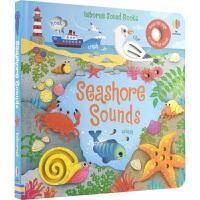Usborne Seashore Sounds 幼儿启蒙认知发声书 海岸风景主题 英语学习 事物认知 故事绘本 亲子读物