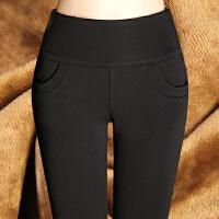加绒打底裤外穿秋款女长裤 高腰加厚胖mm大码女裤保暖小脚铅笔裤