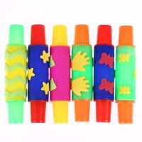 儿童创意涂鸦滚筒 EVA滚筒印章 滚轮 大号长款水彩颜料涂鸦画刷
