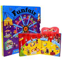 【首页抢券300-100】Interactive Adventures Funfair 游乐场互动活动游戏书 儿童英语读