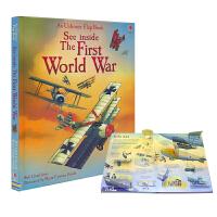 【首页抢券300-100】Usborne See Inside The First World War 看里面系列次世界