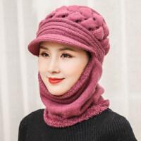 老人帽子女冬天针织毛线帽女士冬季中老年奶奶护耳保暖帽