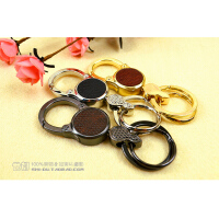 SHIDU*正品代购男女情侣钥匙扣 汽车钥匙链挂创意礼物腰挂式双环