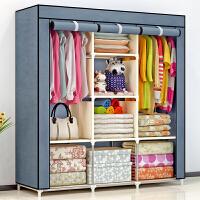 简易布衣柜 加固加粗钢管防尘衣柜 组装折叠衣橱收纳柜抖音同款 8个