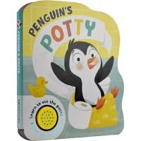 Shaped Sounds - Penguin's Potty 幼儿启蒙认知纸板书 小企鹅的便盆 有声书 2-4岁 亲子
