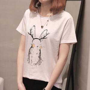 夏新款短袖女装韩版T恤宽松学生上衣女