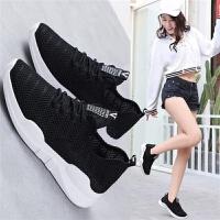 女士网面镂空子女学生跑步鞋韩版百搭显瘦休闲鞋网红鞋