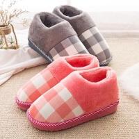 包跟棉拖鞋女厚底冬季居家居情侣保暖防滑室内冬天保暖月子毛毛拖