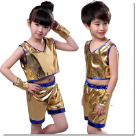 六一儿童演出服装爵士舞街舞蹈现代舞幼儿园男女童环保亮片表演服