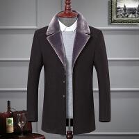 冬季新款中青年西服男士西装外套羊毛呢大衣休闲上衣帅气加厚加绒