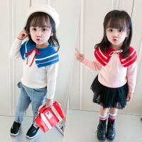 女童针织衫秋装儿童长袖毛衣套头宝宝小衫小女孩洋气上衣