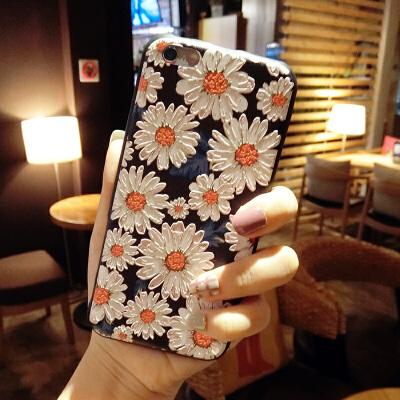 雏菊花苹果8X手机壳硅胶软iphone6splus带挂绳7p支架潮牌女款 iphone 7-无支架