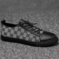 品牌欧美印花布鞋透气夏季板鞋韩版搭配小脚裤牛仔裤潮鞋男鞋45码46码