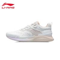 李宁休闲鞋女鞋2021新款官方正品减震回弹鞋子时尚轻便低帮运动鞋
