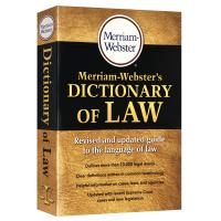 正版现货 韦氏法律词典 英文原版字典 Merriam Webster's Dictionary of Law 英文版韦