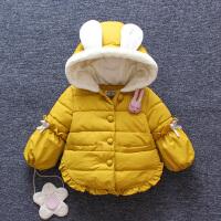 儿童装棉衣外套秋冬女童洋气衣服