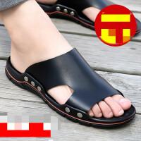 男士室外沙滩拖鞋夏防滑外穿时尚韩版一字拖凉拖个性潮流休闲凉鞋