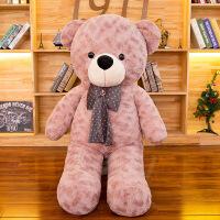 毛绒玩具毛衣泰迪熊公仔女生大号领结抱抱熊生日礼物
