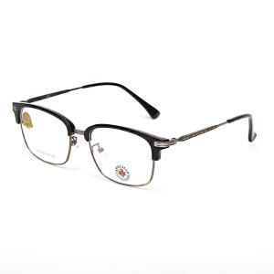 明治/KHDESIGN 圆形眼镜框男女款韩版文艺复古平光镜圆框近视框架KS1738