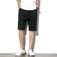 夏季男士六分短裤盘扣男士短裤夏季大码宽松马裤