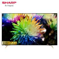 夏普彩电(SHARP) LCD-70SU678A 70英寸 4K 超清 智能 语音 HDR 侧入式煌彩 液晶平板电视