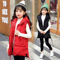 女童棉马甲外套大童秋冬装中小学生女孩衣服潮洋气