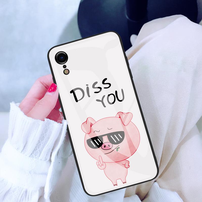 苹果xr手机壳玻璃iPhonexr手机壳女款iPhone xr手机壳超薄男新xr保护壳全