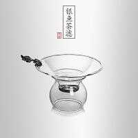当当优品 银鱼茶滤 光阴系列 手工高硼硅玻璃茶漏 功夫茶具配件
