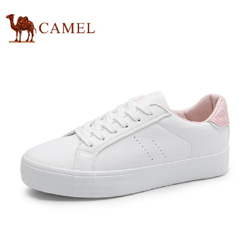 骆驼牌 女鞋 新品时尚百搭小白鞋女鞋舒适休闲女单鞋板鞋