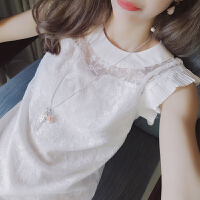 谜秀 蕾丝连衣裙女两件套无袖夏装2017新款韩版宽松甜美夏季A字裙