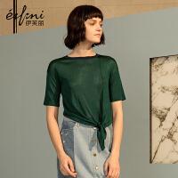【商场同款】伊芙丽新款韩版套头短袖针织衫女1170415139951