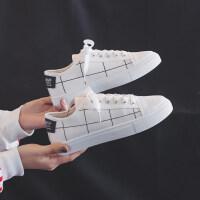 帆布鞋女2019春款新款小黑鞋韩版学生百搭小白鞋潮鞋春秋流行板鞋 35 女款