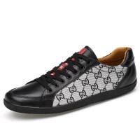 品牌时尚男鞋春夏季潮鞋拼色休闲鞋男生皮鞋英伦韩版潮流百搭透气板鞋