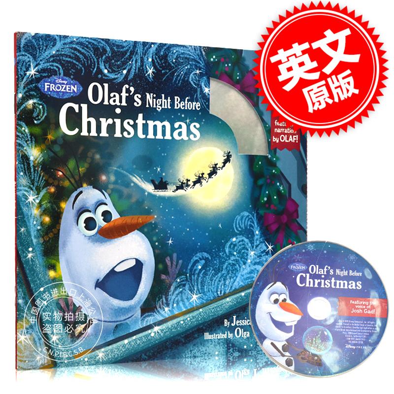 现货 冰雪奇缘 雪宝的圣诞节前夜 英文原版儿童绘本付CD Olaf's Night Before Christmas Book & CD 迪士尼 亲子唱读绘本 现货!冰雪奇缘 雪宝的圣诞夜 儿童绘本付CD 英文原版 Olaf's Night Before Christmas Book & CD 迪斯尼 亲子唱读