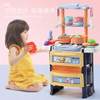 �和�仿真�N房�^家家����玩具女孩煮�做�套�b炒菜�N具