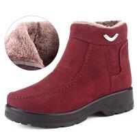 老北京布鞋女棉鞋冬季加绒保暖女士休闲短靴防滑轻便厚底妈妈鞋