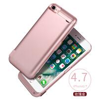 苹果7背夹充电宝20000毫安6s无线电池iphone背夹式6plus一体式超薄6sp手机专用8 玫瑰金6/6s/7/