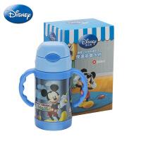 迪士尼儿童手柄吸管保温杯 学生便携水壶 新款户外运动水杯