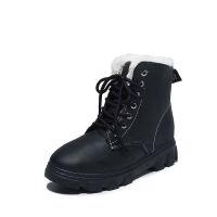 冬季2019新款雪地靴女加绒保暖马丁短筒靴防水百搭韩版学生棉鞋子