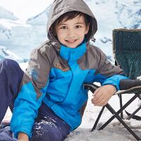 童装儿童三合一冲锋衣抓绒两件套秋冬装