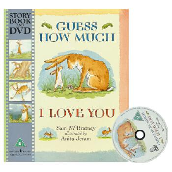 Guess How Much I Love You 猜猜我有多爱你 英语入门启蒙绘本 廖彩杏书单 儿童英文原版图书绘本 附DVD动画