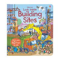 Usborne Look Inside Building Sites 建筑工地 看里面低幼百科翻翻书 儿童绘本单词幼儿