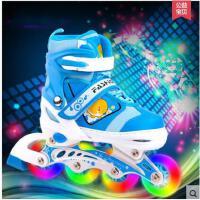 透气舒适耐磨运动滑冰鞋轮滑鞋男女可调闪光溜冰鞋儿童套装直排轮旱冰鞋