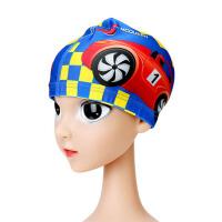 儿童泳帽男童女童护耳可爱游泳帽宝宝布帽