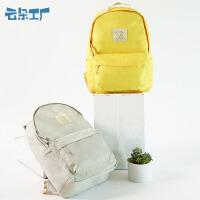 书包女学生双肩包轻便休闲旅行背包双肩包纯色电脑背包