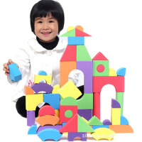 斯尔福积木压花 超轻EVA软体积木泡沫积木 益智安全大块玩具50块.
